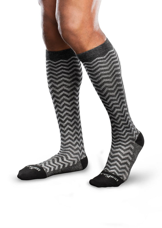 Therafirm Core-Spun Patterned Compression Knee High Socks - Trendsetter 10-15 mmHg