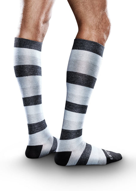 Therafirm Core-Spun Patterned Compression Knee High Socks - Monogradient 20-30 mmHg