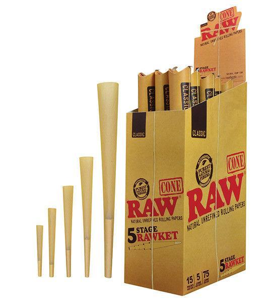 RAW 5 Stage Rawket Cone Variety Pack (15 Packs)