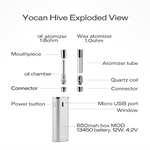 Hive Vaporizer by Yocan Exploded View