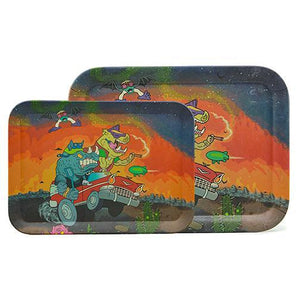 Biodegradable Bamboo Fiber Rolling Tray - Rhino Rush (Two Sizes)