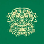 Ace of the Dead Skull women's t-shirt  green logo