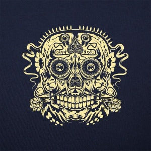 Ace of the Dead Skull women's t-shirt navy logo