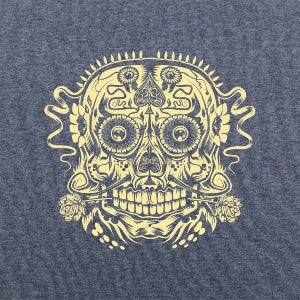 Ace of the Dead Skull t-shirt Navy heather logo