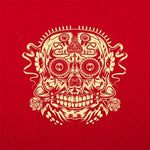 Ace of the Dead Skull t-shirt red logo