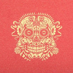 Ace of the Dead Skull t-shirt red heather logo