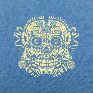 Ace of the Dead Skull t-shirt blue logo