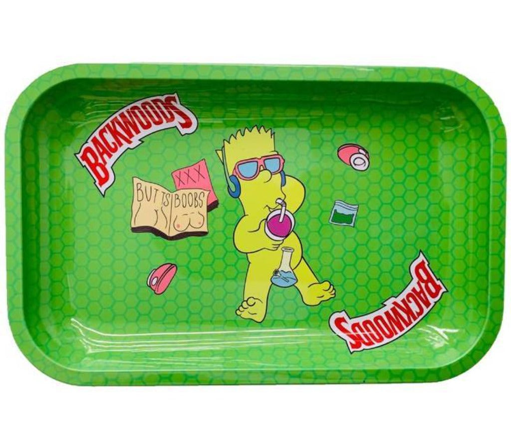 "Premium Metal Rolling Tray ""Backwoods Bart Simpson"""
