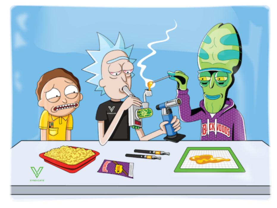 Rick and Morty Dab Portal Shatterproof Glass Tray