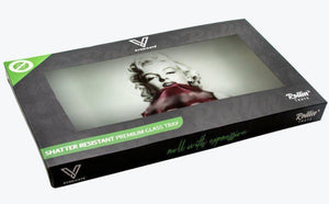 The Diva Shatterproof Glass Tray in box