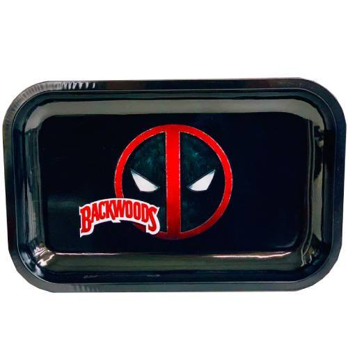 "Premium Metal Rolling Tray ""Backwoods Deadpool"""