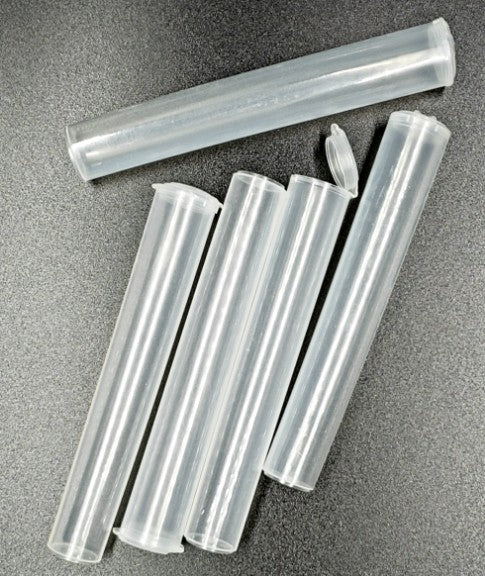 Air Tight Pop Top Doob Tube Plastic stash tube Clear group of 5