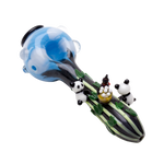Empire Glassworks Climbing Pandas Glass Pipe
