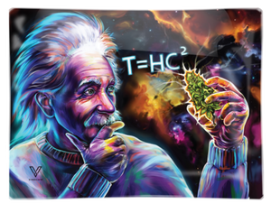 T=HC2 Einstein's Black Hole Shatterproof Glass Tray