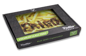 """FRIED"" Shatterproof Glass Tray in box"