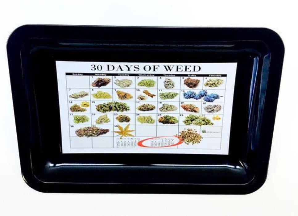 "Metal Rolling Tray ""30 Days of Weed"""
