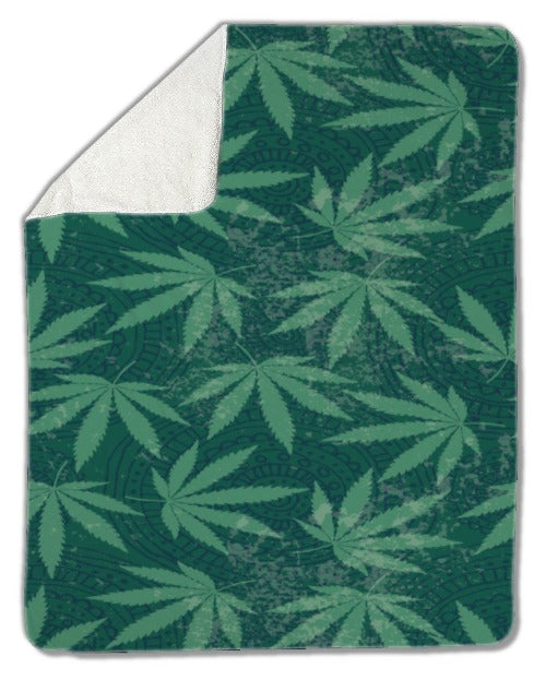 Blanket, Cannabis Leaves
