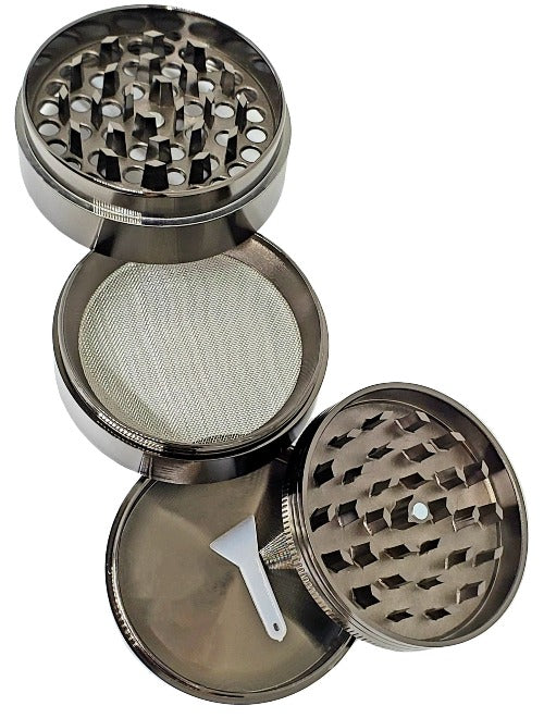 "Aluminum 2.5"" 4 - Piece Herb Grinder ""Cheech and Chong"""