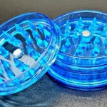 Acrylic 2 piece magnetic grinder blue