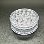 Acrylic 2 piece magnetic grinder clear closed