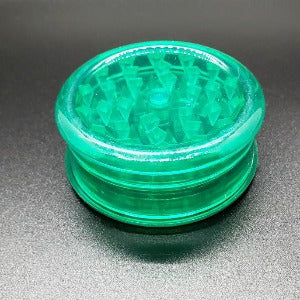Acrylic 2 piece magnetic grinder green closed