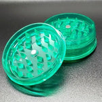 Acrylic 2 piece magnetic grinder green open