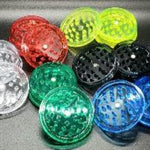 Acrylic 2 piece magnetic grinder all colors clear red green yellow black blue