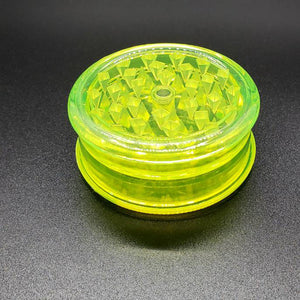 Acrylic 2 piece magnetic grinder yellow closed