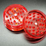 "Acrylic 2.75"" Two Piece Magnetic Herb and Spice Grinder"