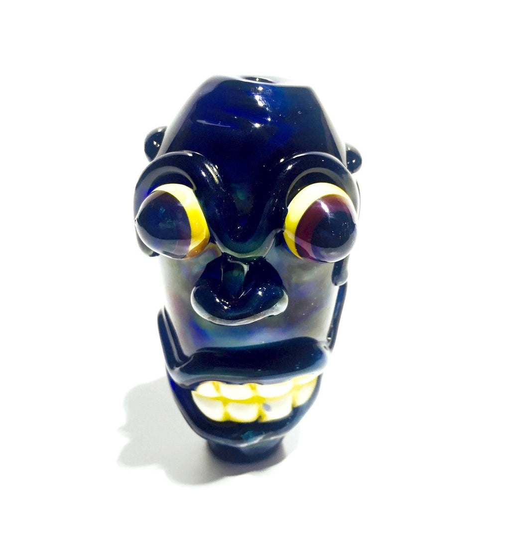 "Handmade Tiki Glass Pipe (4"")"