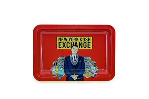 Metal Rolling Tray - NY Kush Exchange (Small)