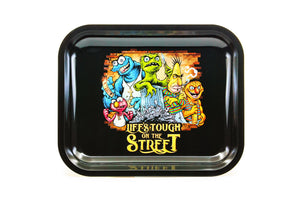 Metal Rolling Tray - Life's Tough (Large)