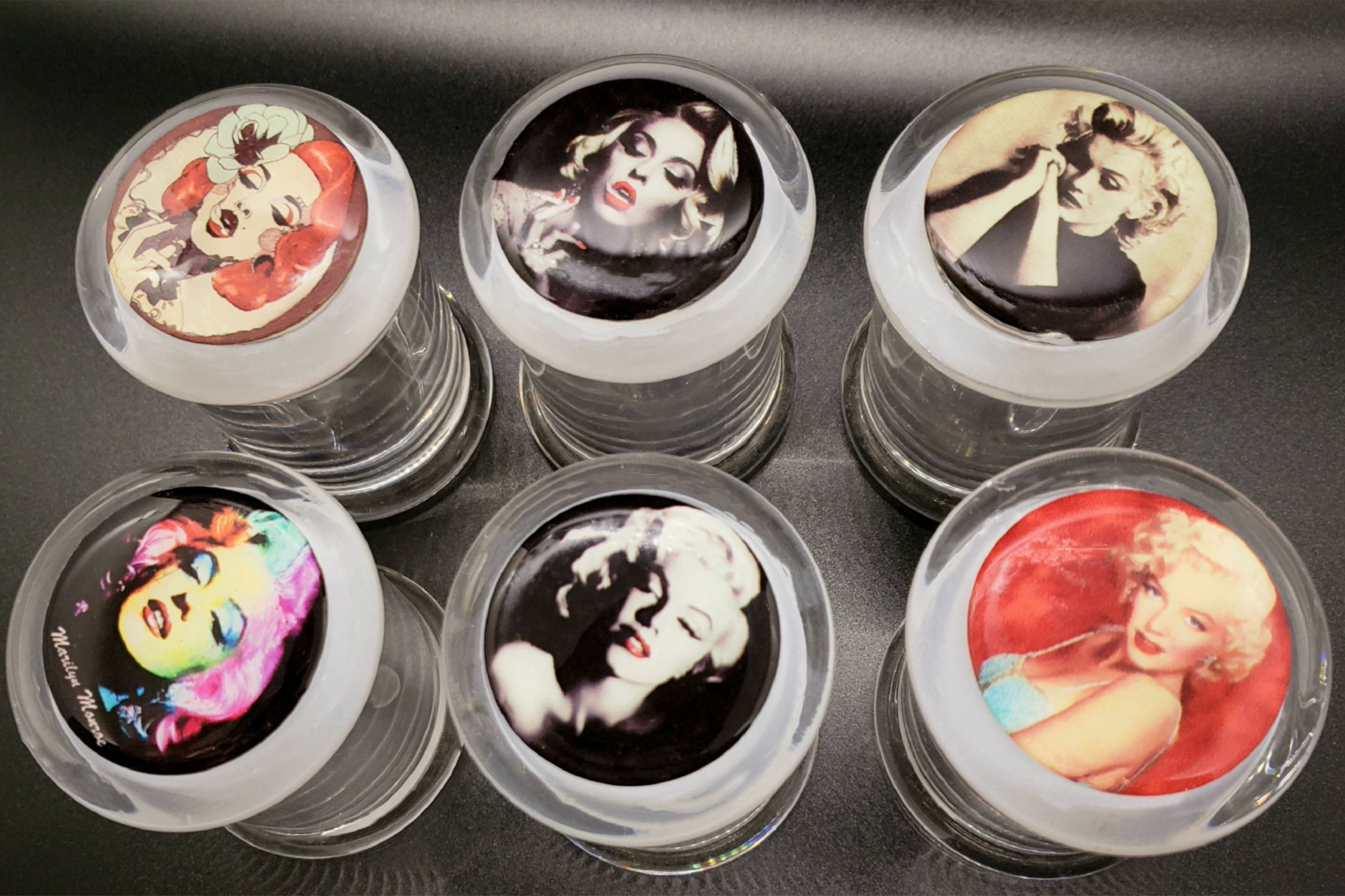 Glass Stash Jar - Marilyn Monroe Collectible Designs