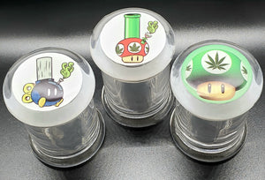 Glass Stash Jar Mario Collectible Designs