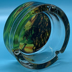 Glass Rasta Ashtray Rasta Lion design