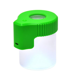 Mag Jar Magnifying glass stash jar green