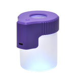 Mag Jar Magnifying glass stash jar purple