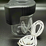 Mag Jar Magnifying glass stash jar with cable in black