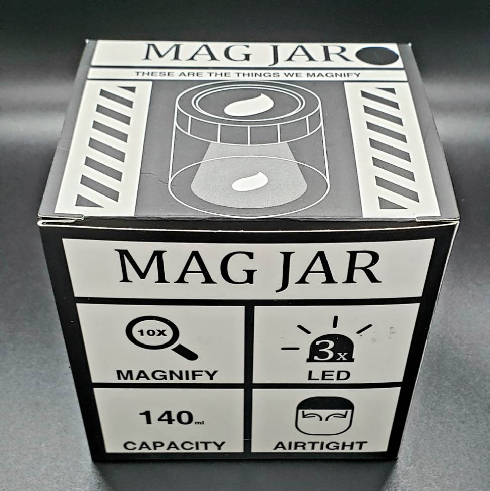 Mag Jar Magnifying glass stash jar box