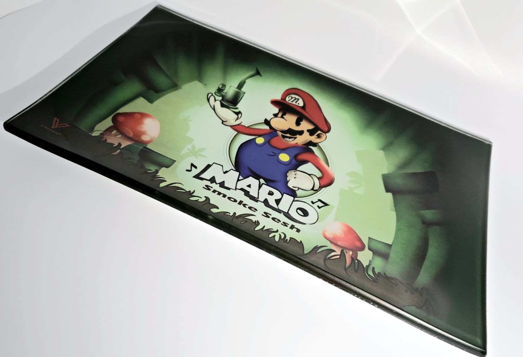 Mario Smoke Sesh Shatterproof Glass Tray