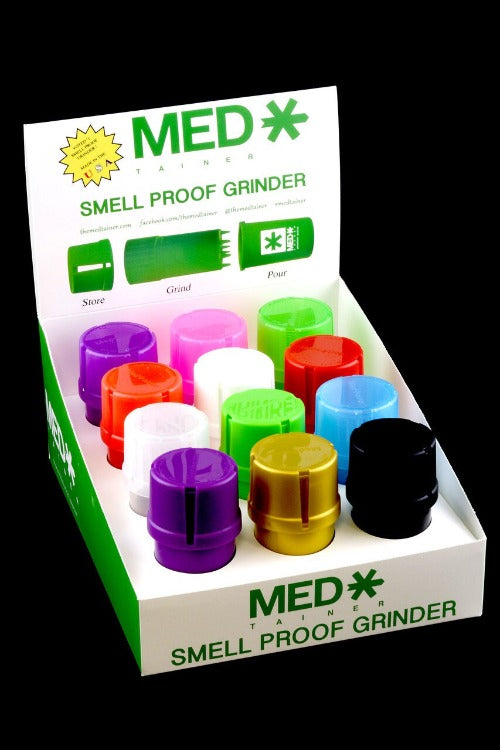 Medtainer Smell Proof Herb Grinder and Jar