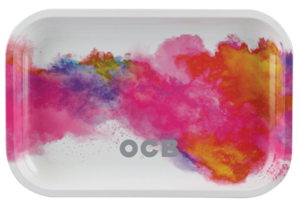 "OCB Metal Rolling Tray ""Holi White"" - Small"
