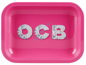 OCB limited edition pink and diamond rolling tray