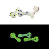 "Glow in the Dark Hand Pipe - Multi Marble (5"")"