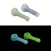 "Glow in the Dark Hand Pipe - Spiral (4"")"