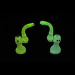 "Glow in the Dark Bubbler - Red Frit (7"")"