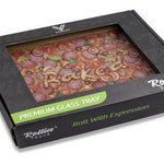 """PIZZA"" Shatterproof Glass Tray Media 1 of 6"