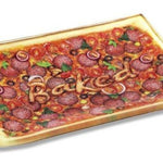 """PIZZA"" Shatterproof Glass Tray"