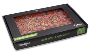 """PIZZA"" Shatterproof Glass Tray in box"