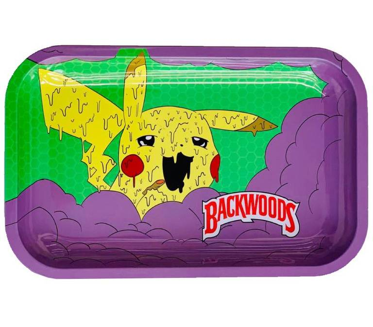 "Premium Metal Rolling Tray ""Backwoods Pikachu"""